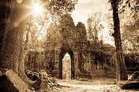 Angkor Thom East Gate also known as the Death Gate is one of the five gates which guards the ancient city of Angkor Thom. It was built by King Jayavar...