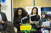 Job seekers attend an internship and job fair at Pace University in New York. The US Labor Department reports new claims for unemployment benefits for...