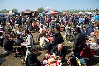 food carts festival in Holland.
