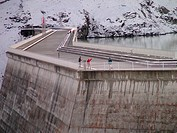 Switzerland, Europe, valais, wallis, Val D'Heremence, Dam Grande Dixence, 2, 365 metres, world's highest concrete dam, Lac des Dix