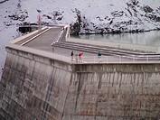 Switzerland, Europe, valais, wallis, Val D'Heremence, Dam Grande Dixence, 2, 365 metres, world's highest concrete dam, Lac des Dix