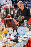 An antiques fair in the town centre of Beccles , Suffolk , England , Britain , Uk.