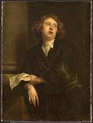 Portrait of the Composer Henricus Liberti (1628-1661). Dyck, Anthony van, (Studio of) . Oil on canvas. Baroque. c. 1630. Flanders. Rijksmuseum, Amster...