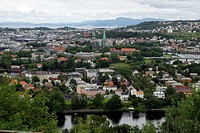 View of City from Sverresli Viewpoint, Trondheim, Norway
