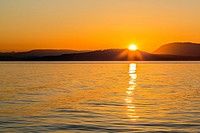 Pacific Northwest sunset, Haro Strait, Saturna Island, British Columbia, Canada.