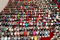 Wrist watches for sale at the Fatih Market. Istanbul, Turkey.