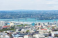 Harbour Bridge in front of Takapuna, Mount Eden, Auckland, Auckland Region, New Zealand