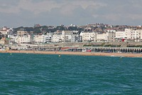 View of Brighton and Madeira Drive from the sea