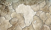 Cracked earth in shape of Africa