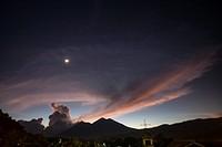 Guatemala, sunset.