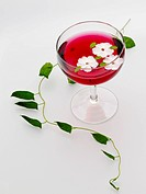 alcohol with flower