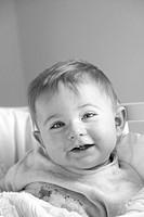 Smiling Baby's Face, Portrait, Close-Up