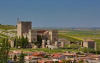 Ampudia, Castilla, Castile, Leon, Palencia, Province, belfry, castle, church, city, energy, history, landscape, pueblo, Spain, Europe, touristic, trav...