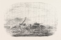 WRECK OF THE DOURO STEAMSHIP ON THE PARACELS IN THE CHINA SEA 1854