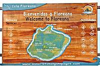 Map, Floreana Island, Galapagos Islands, Ecuador.