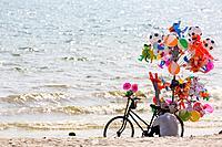 Balloon Seller on Serendipity Beach in Sihanoukville, Cambodia.