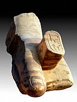 Fragment of the hand of a giant statue of Pharaoh Ramesses II