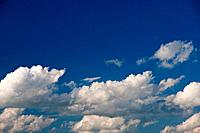 Germany, Europe, sky, blue sky, clouds, fleecy clouds, cumulus clouds, Cumulus, cloud formation, blue, white, weather,
