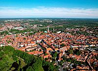 Headline: City view, Lueneburg, Lower Saxony, Germany, Europe