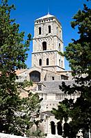 Tower of Saint Trophimus cathedral 12th century, monument declarated World Heritage by UNESCO. Arles, Bouches-du-Rhône department, in Provence-Alpes-C...