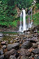 Cascades 3ième Chute du Carbet waterfall, Capesterre-Belle-Eau, Arrondissement of Basse-Terre, Guadeloupe, France