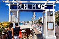 Ruhl Plage, Promenade des Anglais, Nice, Alpes Maritimes, Provence, Cote d'Azur, French Riviera, France, Europe
