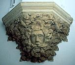 'Green Man', corbel, All Saints Church, Sutton Benger, Wiltshire. Originally a pagan god associated with natural rebirth in the Spring, the Green Man ...