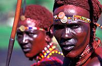 Maasai warriors, Masai Mara, Kenya