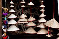 Traditional Vietnamese Non La Straw Hat in Hanoi, Vietnam.
