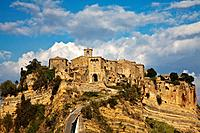 Civita di Bagnoregio and the long bridge leading to town