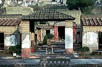 The house of the stags in Herculaneum, a Roman town buried by the eruption of Vesusivius in 79 AD.