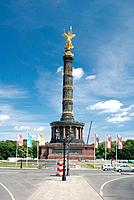 Victory column with the statue of the goddess of victory Victoria (nickname: Goldelse) at the big star in the Berlin zoological garden. - BERLIN, GERM...