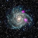 Spiral galaxy IC 342, NuSTAR X-ray image. This spiral galaxy, also known as Caldwell 5, is 7 million light years distant in the constellation of Camel...