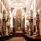 The church at Salzburg Castle. Mozart played here for the Archibishop of Salzburg. Country of Origin: Austria. Place of Origin: Salzburg. Credit Line:...