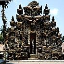 The Pura Dalem at Jagaraga. On an axis through each Balinese village a pura dalem, or demon temple is opposite the celestial pura puseh, home of the g...