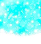 Christmas abstract background with snowflakes, stars