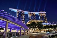 Marina Bay Sands Hotel at night. Singapore.