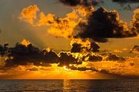 sunset; cleveleys; lancashire; england; uk; europe.