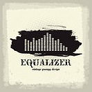 Antique vintage a art of waveform equalizer