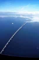 THE ORESUND BRIDGE between Denmark and Sweden.