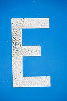 Painted letter E