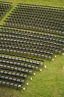 Chairs in a field