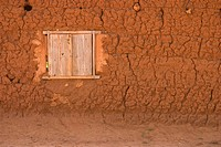 Window in mud wall