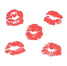 vector lipstick marks