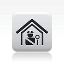 Vector illustration of isolated police station icon
