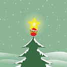 Bird on top of Christmas tree