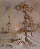 Winter Sunset, 1900. Found in the collection of the Regional Art Museum, Kozmodemyansk.