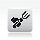 Vector illustration of single fork icon