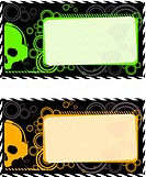 Vector industrial frames with skull