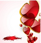 the vector abstract hearts background